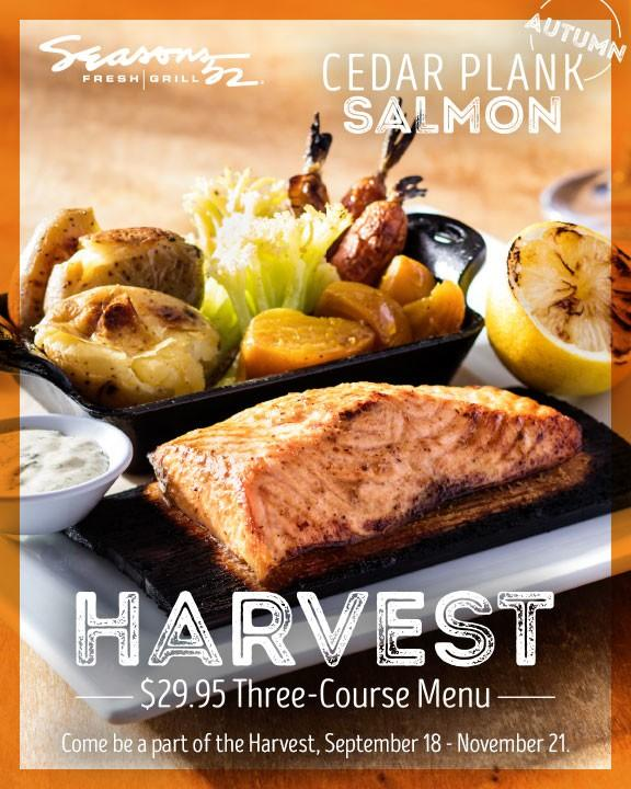 Harvest $29.95 Three-Course Menu from Seasons 52