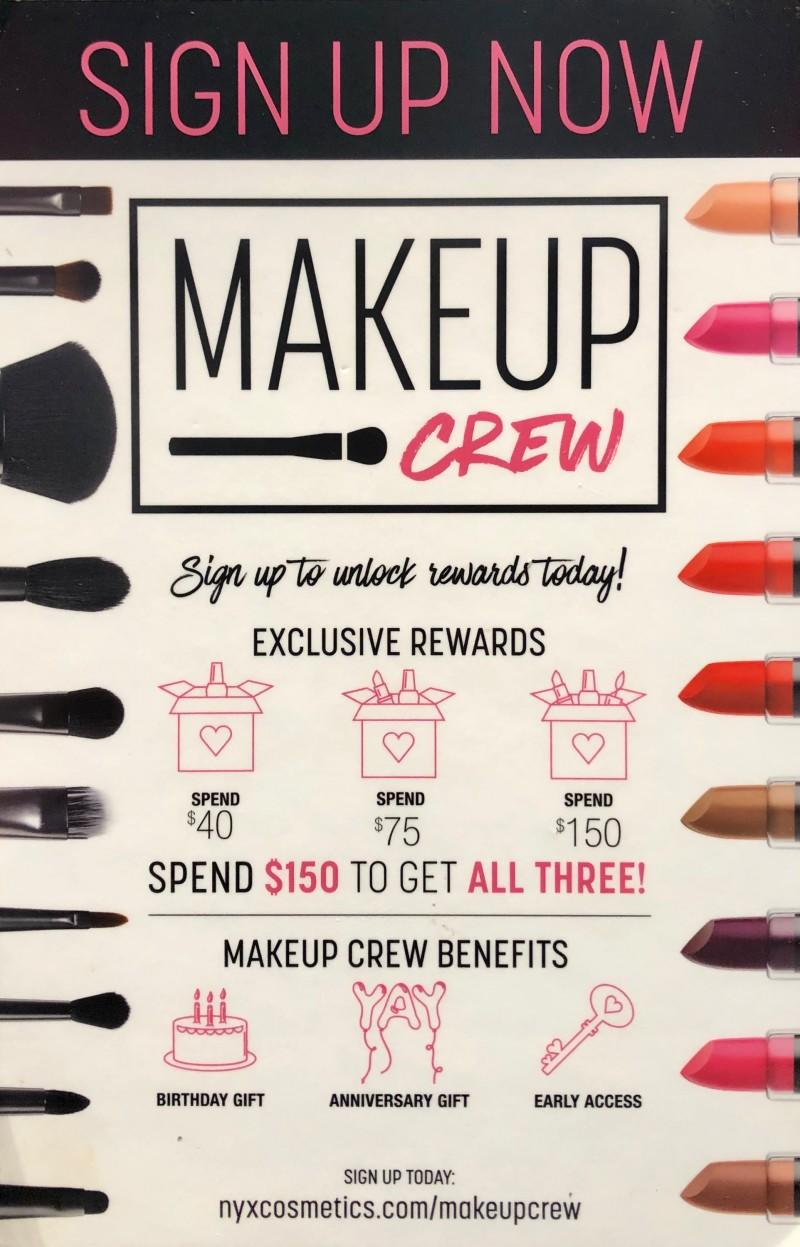 Makeup Crew Benefits