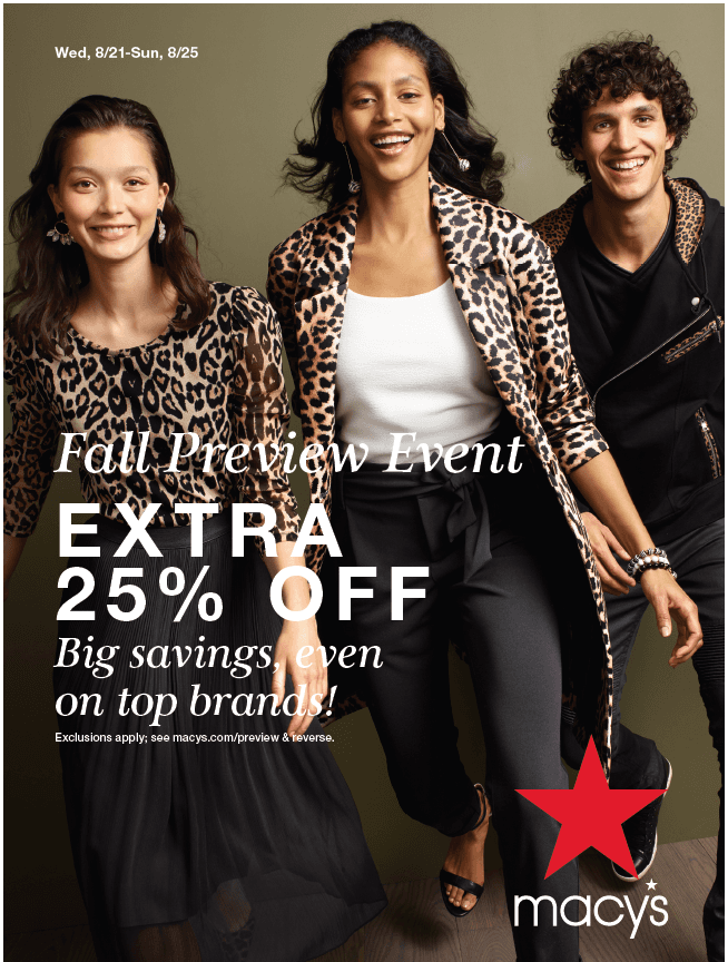 Fall Preview Event from macy's