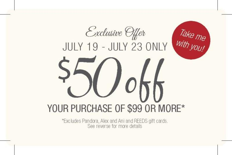 Anniversary Sale from Reeds Jewelers