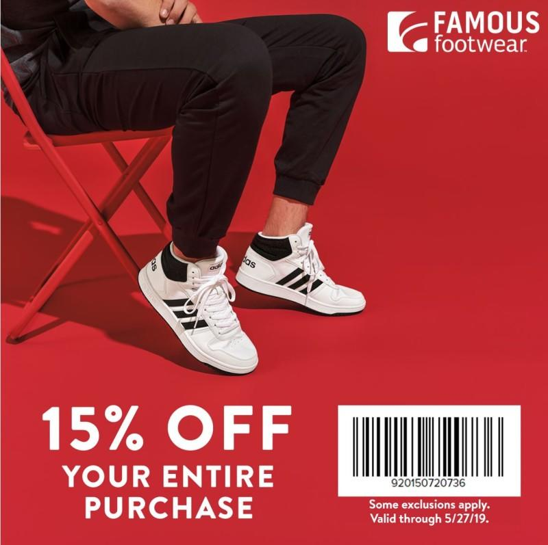 15% Off Purchase from Famous Footwear