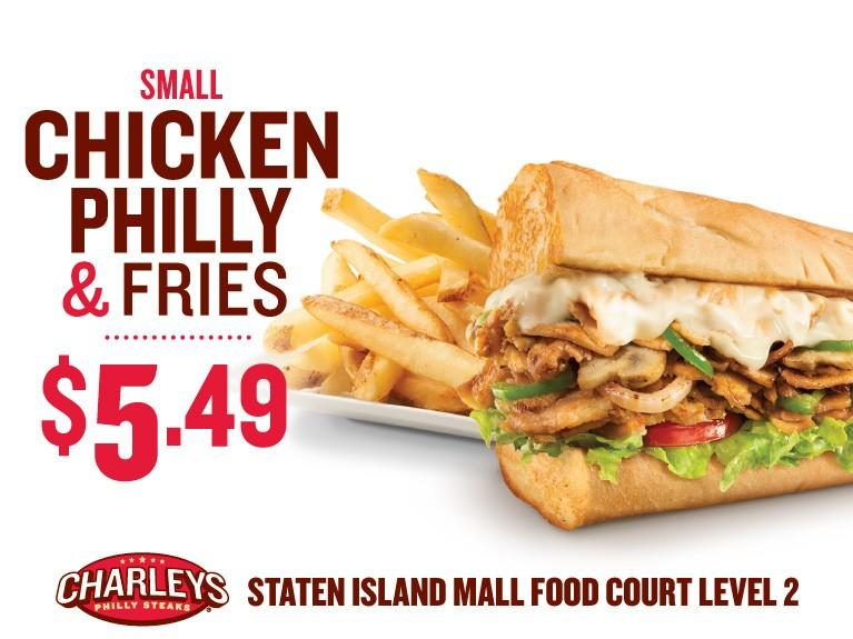Chicken & Fries from Charleys Philly Steaks