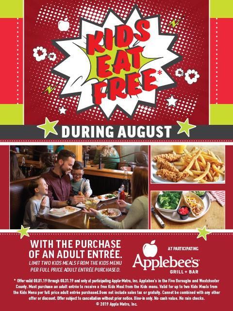 Kids Eat Free from Applebee's