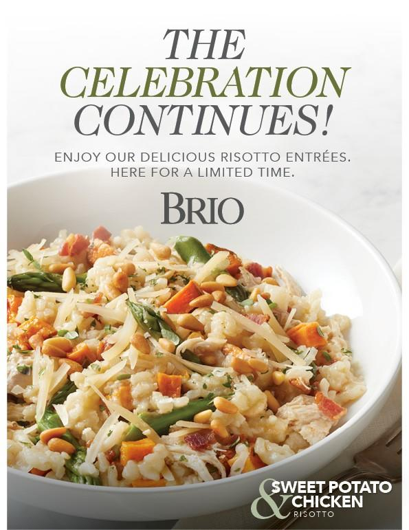 BRIO Tuscan Grille is still celebrating risotto! from Brio Tuscan Grille