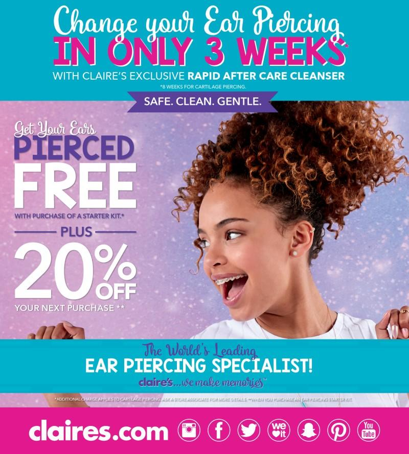 Celebrate National Ear Piercing Day from Claire's