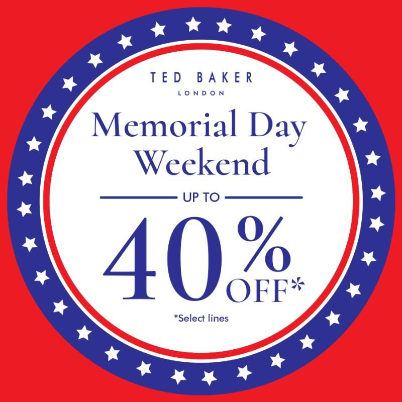 Memorial Day Sale from Ted Baker London