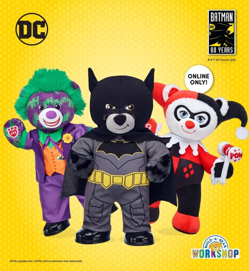 80th Anniversary Batman Bear and The Joker Bear from Build-A-Bear Workshop