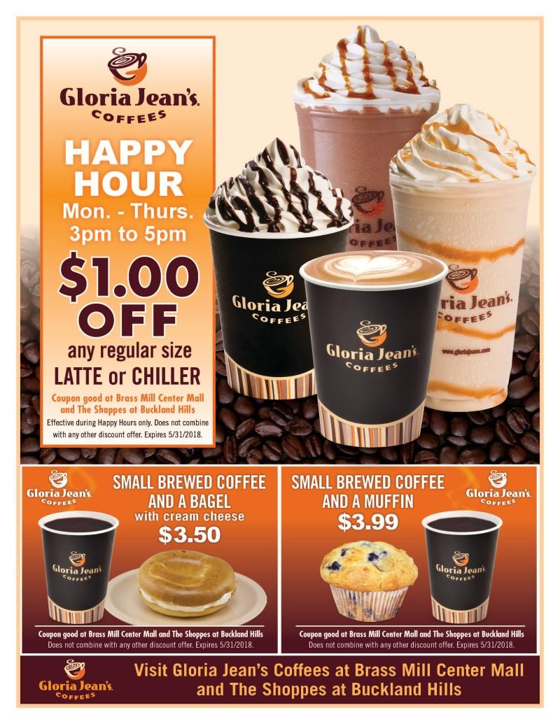$1 off Happy Hour Latte and Chillers