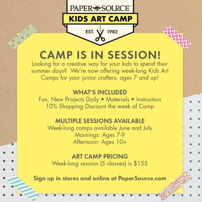 Kids Art Camp from Paper Source
