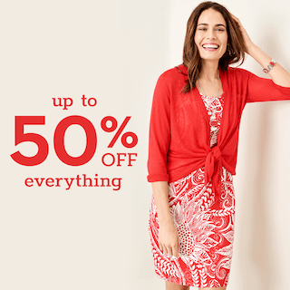 Up to 50% off! from chico's