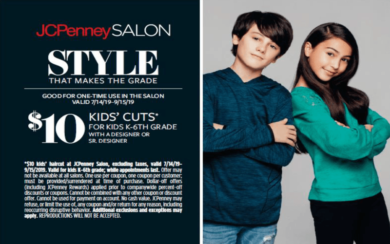 $10 Kids' Cuts! from JCP Salon