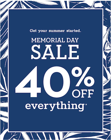 Memorial Day Sale from chico's