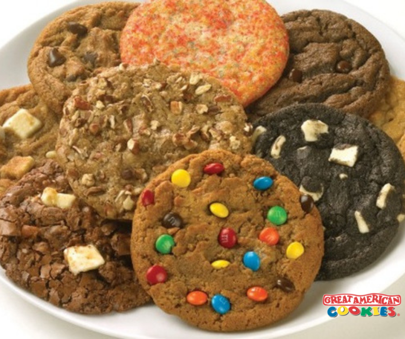 10 Regular Cookies for $10.99 from Great American Cookie