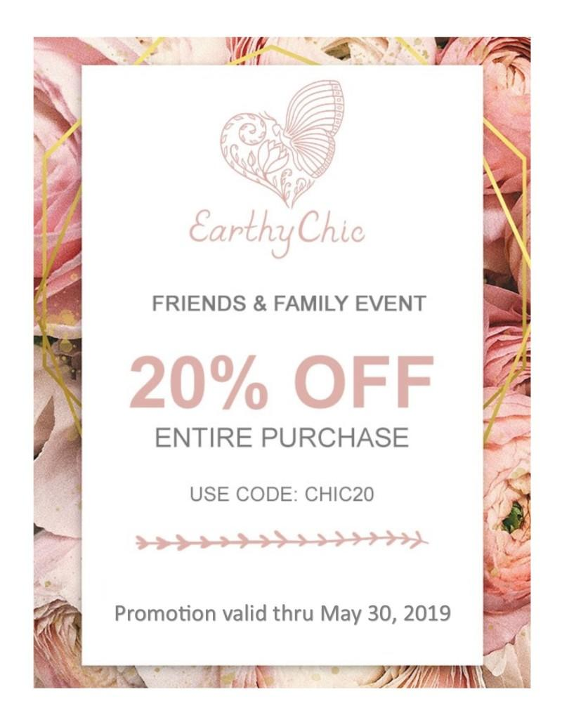 May Friends & Family Event from Earthy Chic Boutique