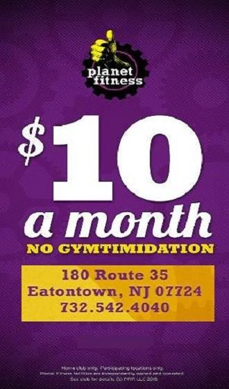 $10 a month from Planet Fitness