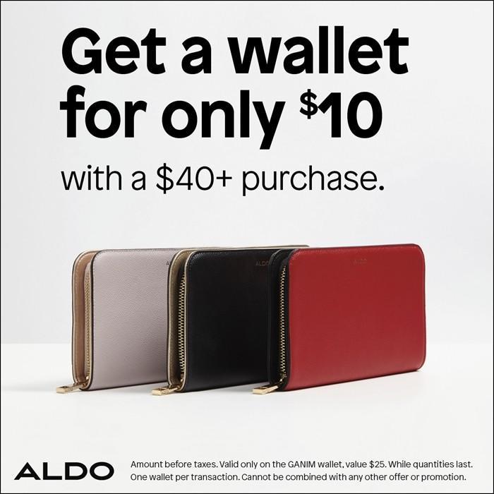 Sale on Aldo Wallets! from ALDO Shoes