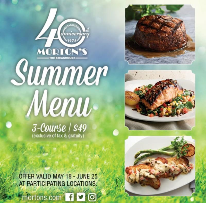 Summer Menu from Morton's The Steakhouse
