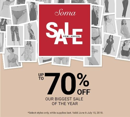 Our Biggest Sale of the Year from Soma Intimates