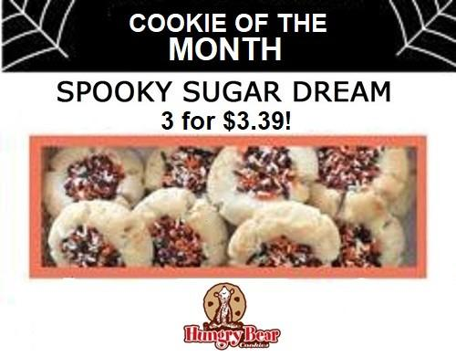 October Cookie of the Month, Spooky Sugar Dream from Hungry Bear Cookies