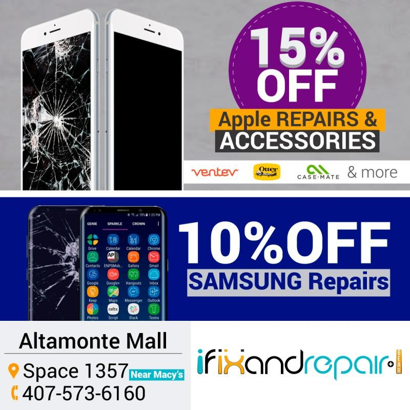 10% off SAMSUNG Repairs