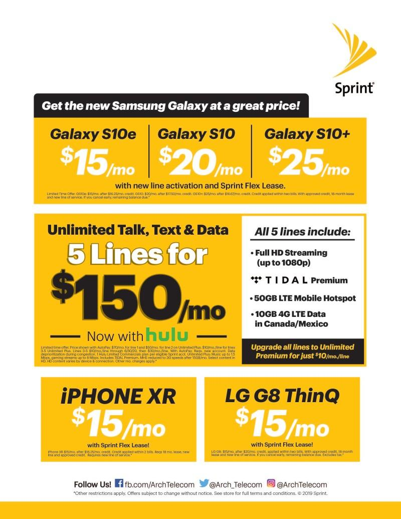 Current Promos from Sprint