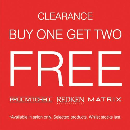 CLEARANCE - BUY ONE GET TWO FREE from Regis Salon