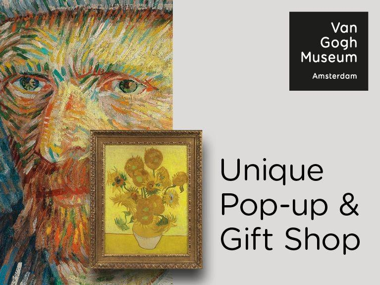 Unique Pop-up & gift shop, Van Gogh Museum with Van Gogh Artwork images