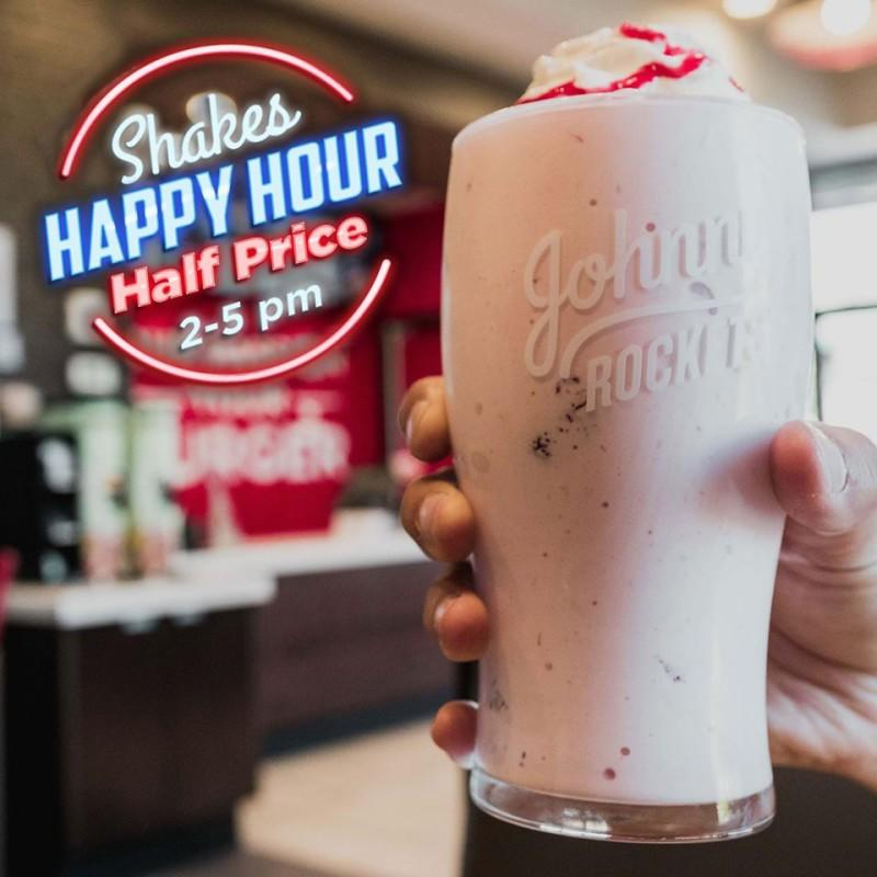 Half-Priced Shakes Happy Hour from Johnny Rockets