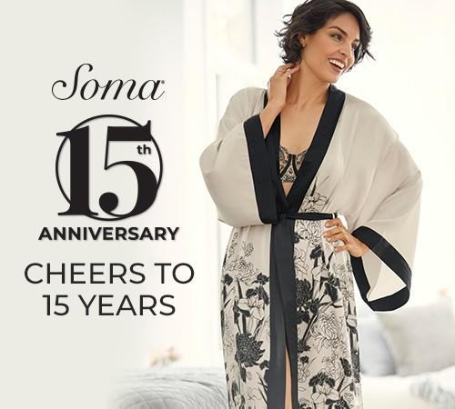 CHEERS TO 15 YEARS from Soma Intimates