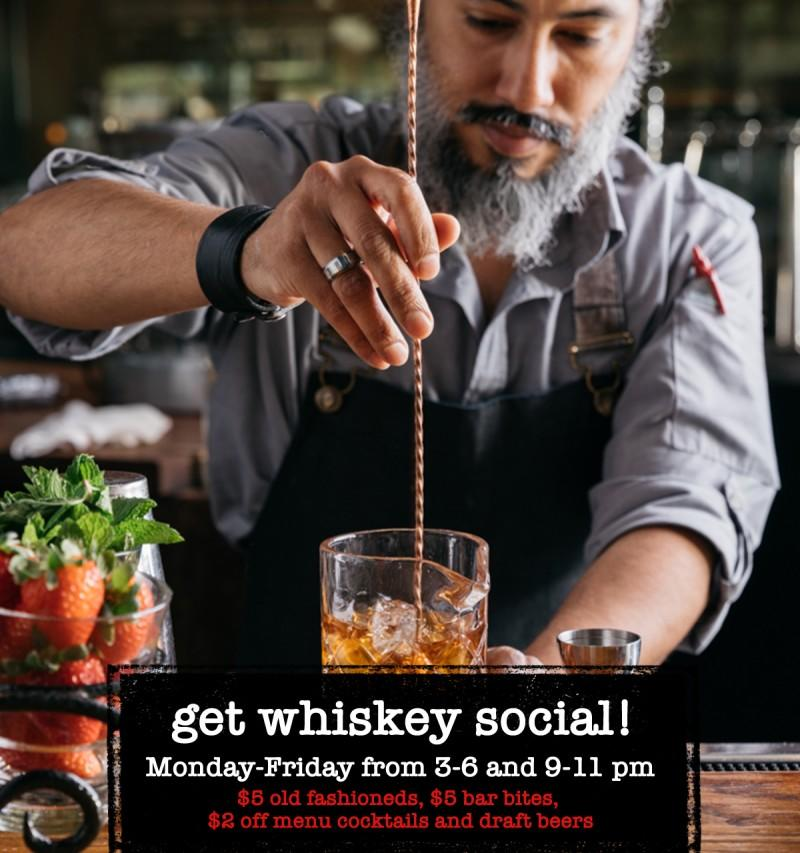 Get Whiskey Social! from Whiskey Cake Kitchen & Bar