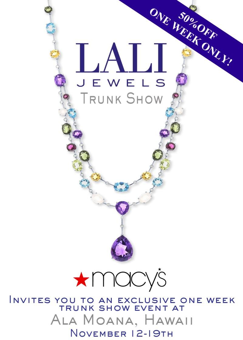 Lali Jewels Trunk Show from macy's