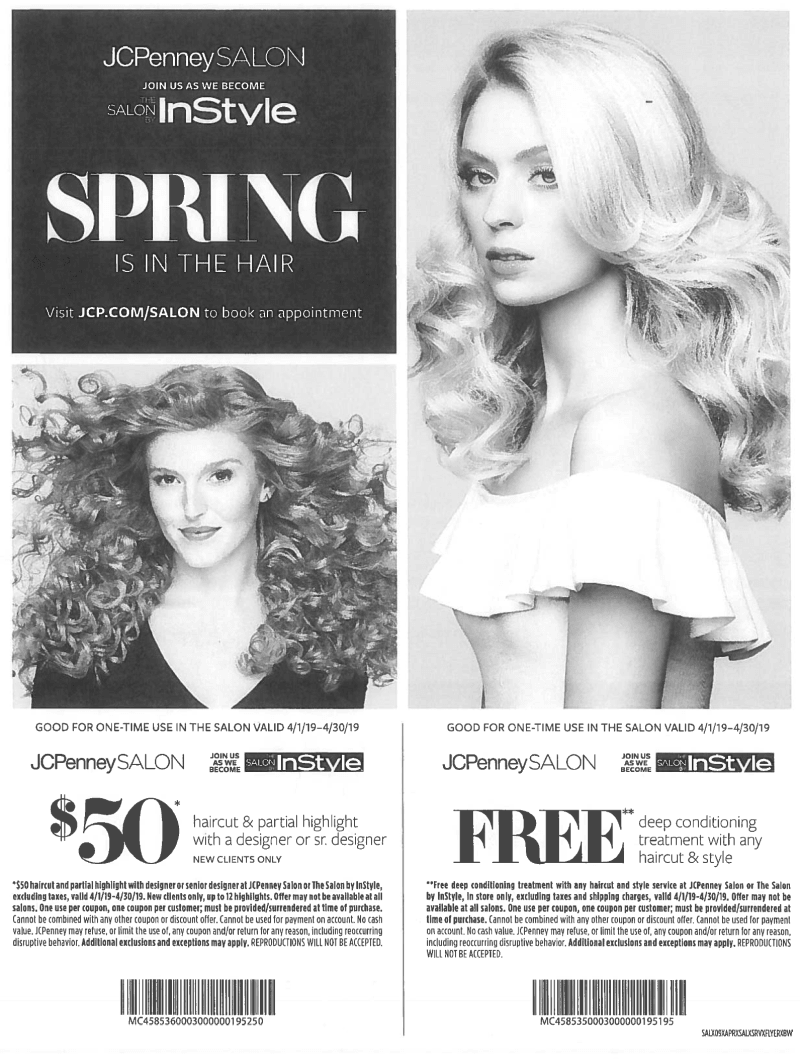 SPRING IS  IN THE HAIR from JCPenney