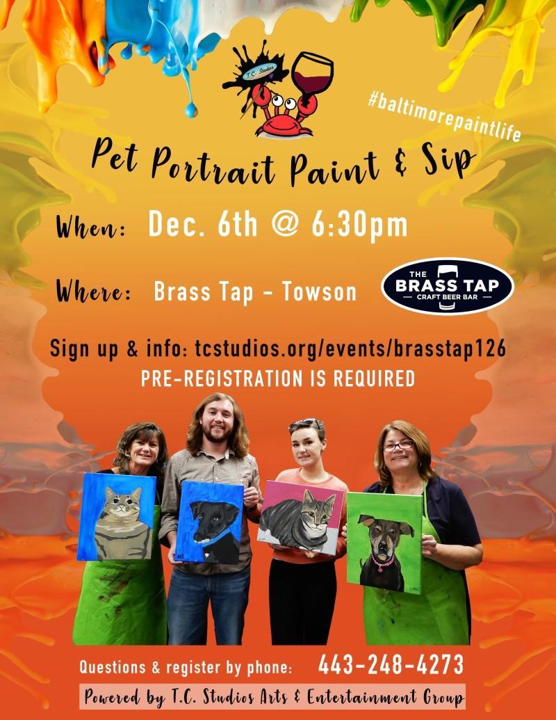 Pet Portrait Paint & Sip