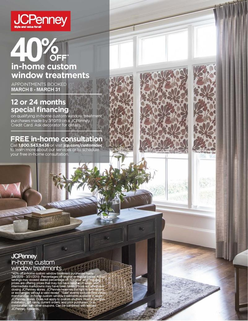 40 Off In Home Custom Window Treatments At Jcpenney Fox River Mall