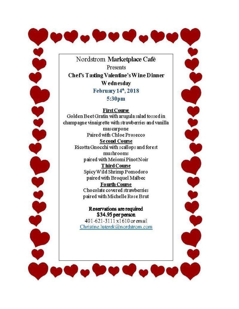 Nordstrom Cafe Valentine's Day Wine Dinner
