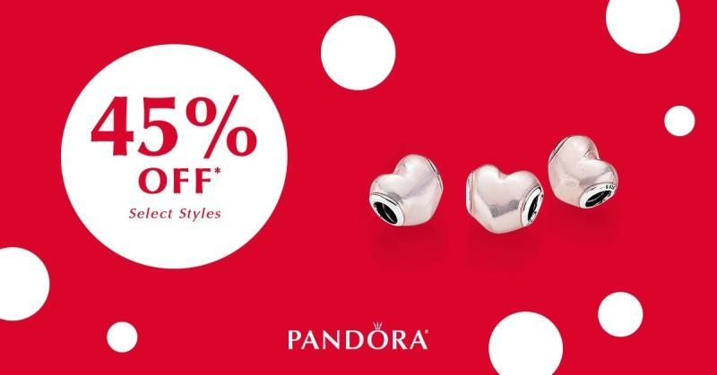 Save 45% on select PANDORA styles from PANDORA
