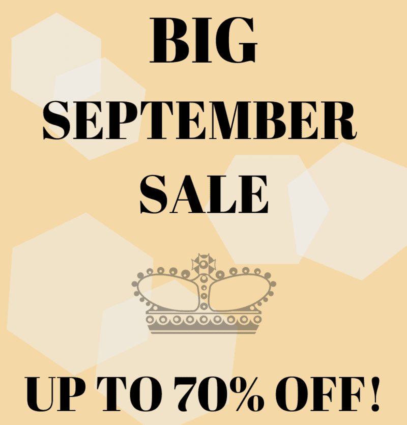 Big Sept Sale- up to 70% Off!