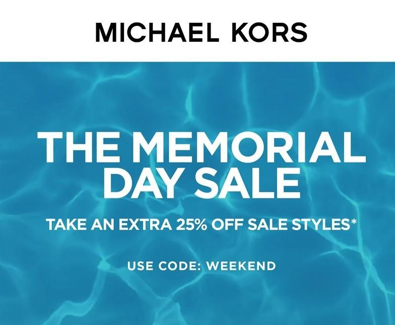 Memorial Day Sale from MICHAEL KORS
