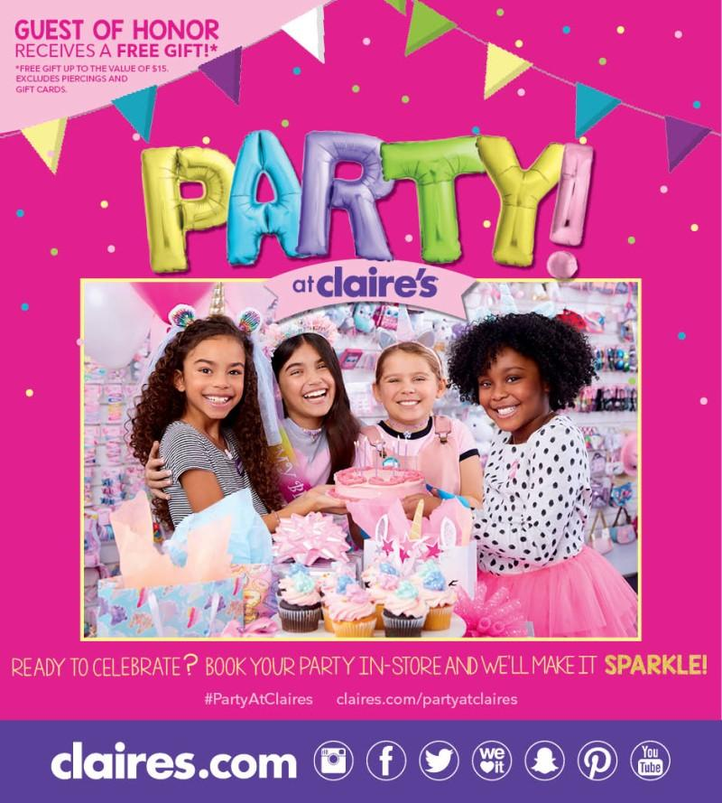 Ready to Celebrate? Book your party in-store and we'll make it Sparkle!