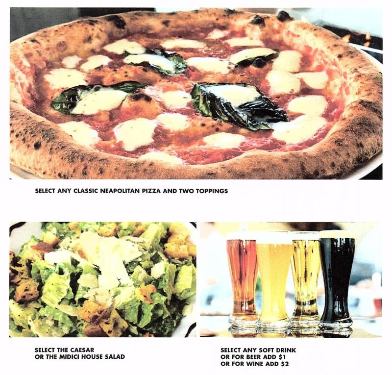 LUNCH SPECIAL from Midici - The Neapolitan Pizza Company