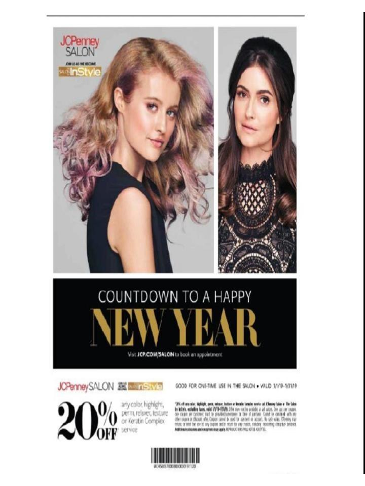 January Specials from JCPenney Salon