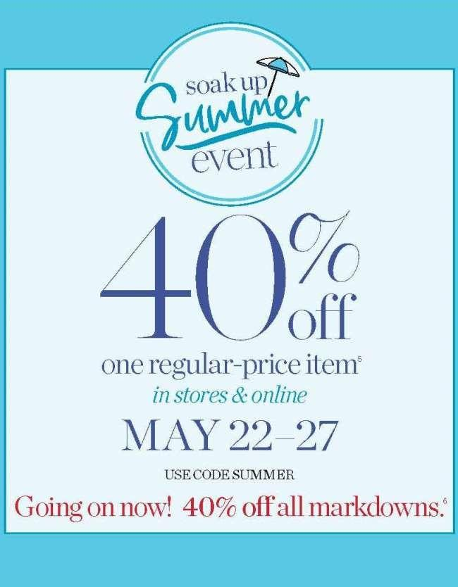Soak Up Summer Event from Talbots
