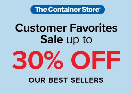 Save up to 30%on the best-selling soultions from The Container Store