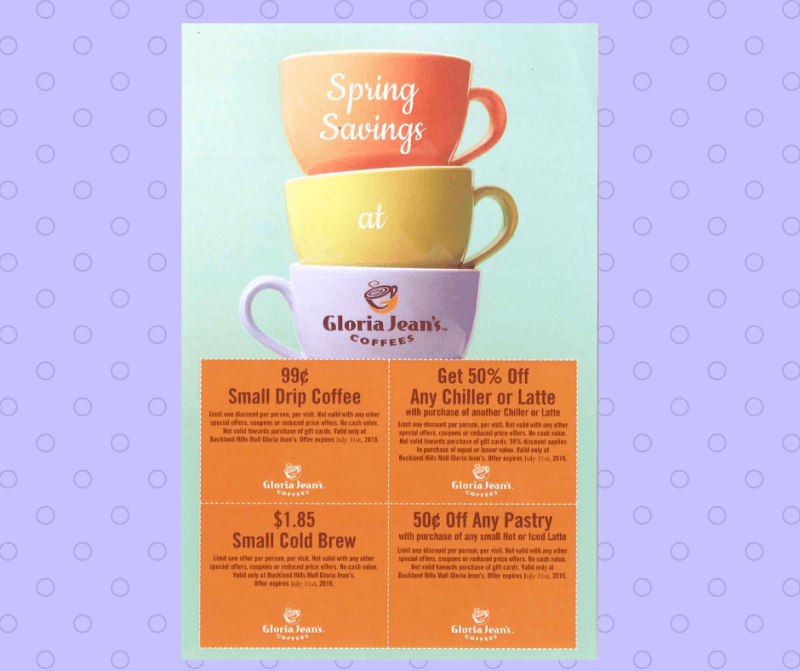 Spring Savings! from Gloria Jean's Gourmet Coffee