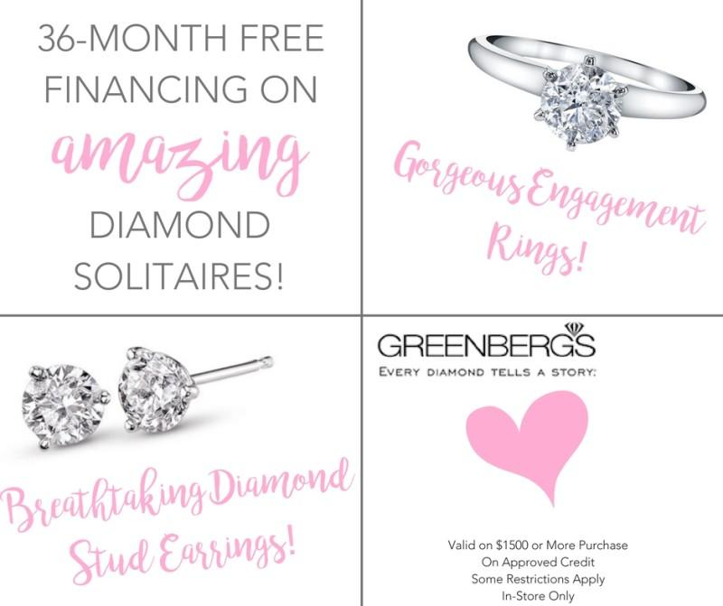 36 month Free Financing!* from Greenberg's Jewelers