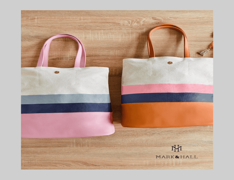 Mark and Hall color block totes only $14.95 until Mother's Day from Don's Hallmark