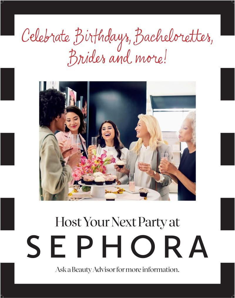 Host Your Next Party at SEPHORA!