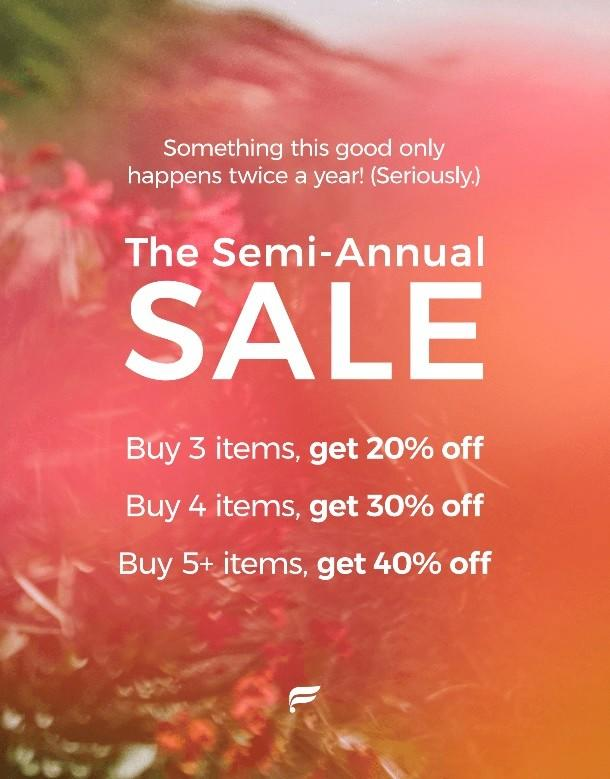 The Semi-Annual Sale with savings up to 40% Off from Fabletics