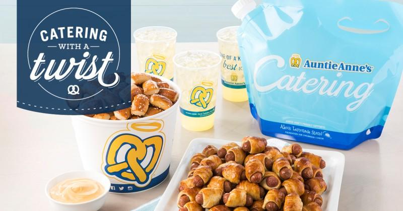 Get $25 off your 1st online catering order of $100 or more! from Auntie Anne's