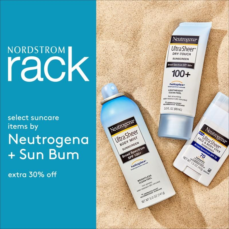 Extra 30% off select suncare items! from Nordstrom Rack